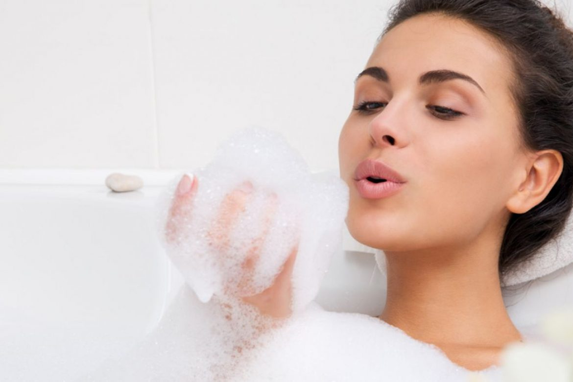 The natural soap aids in the skin's natural moisture retention